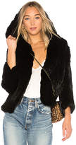 Rachel Zoe Rose Fur Jacket