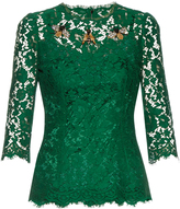 Dolce & Gabbana Cordonetto-lace embellished top