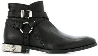 Philipp Plein buckled ankle boots