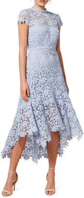 Ever New Chessie Open-Back High-Low Lace Dress