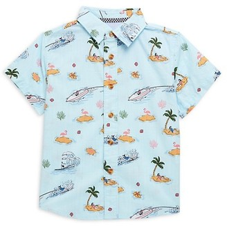 Sovereign Code Little Boy's Deluxe Beach-Print Shirt