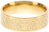 Savvy Cie 14K Yellow Gold Plated Stainless Steel Lord's Prayer Band Ring