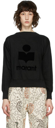 Etoile Isabel Marant Black Mock Neck Kilsen Sweatshirt