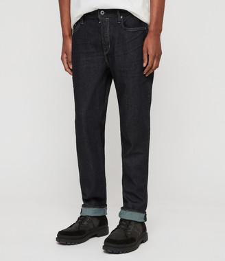 AllSaints Carter Straight Jeans, Dark Indigo Blue