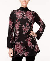 Style&Co. Style & Co Cotton Floral-Print Sweater, Created for Macy's