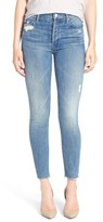 Mother Women's The Stunner Frayed Ankle Skinny Jeans