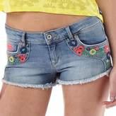 Superdry Womens Folkloric Low Rise Denim Hot Pants Gypsy Rose Multi