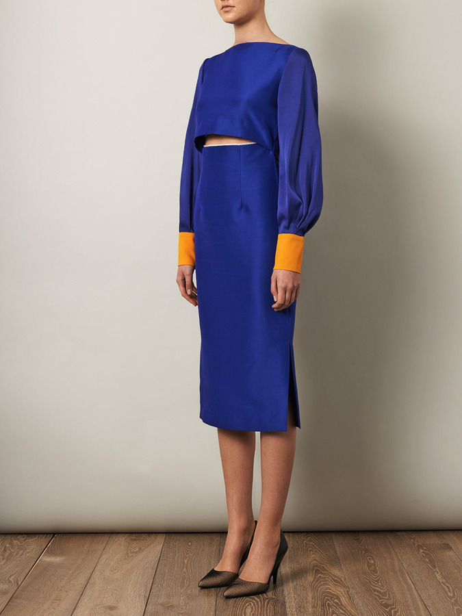Lapis Roksanda Auster fitted dress