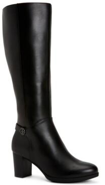 Giani Bernini Adonnys Memory-Foam Wide-Calf Boots, Created for Macy's Women's Shoes