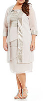 Le Bos Plus Metallic Solange Tiered Jacket Dress