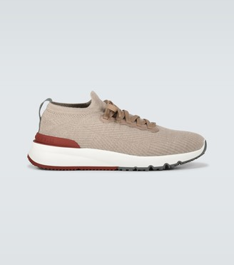 Brunello Cucinelli Cotton knitted sneakers