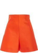 DELPOZO High Waisted Satin Shorts