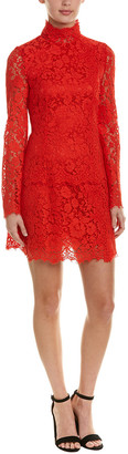 Dolce & Gabbana Lace Silk-Blend Shift Dress