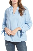 Madewell Women's Pinstripe Tie Sleeve Blouse