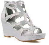 Celeste Hedy Embellished Metallic Wedge Sandal