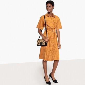 La Redoute Collections Faux Suede Button-Through Shirt Dress