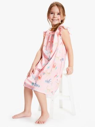 John Lewis & Partners Girls' Safari Night Dress, Pink