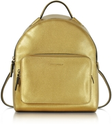 Coccinelle Clementine Golden Saffiano Leather Backpack