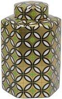 Three Hands Geometric Ceramic Jar - Gold