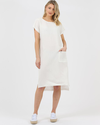 Privilege Women's White Dresses - Slouch Pocket Dress - Size One Size, 10 at The Iconic