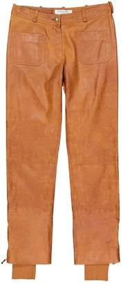 Christian Dior Brown Leather Trousers