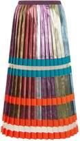 Mary Katrantzou Metallic Pleated Skirt