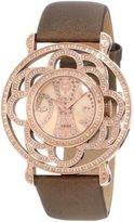 Brillier Women's 04-31325-07-Br Papillon Swiss Quartz Mother-Of-Pearl Watch