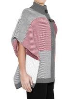 Wool Cashmere Jacquard Knit Cardigan