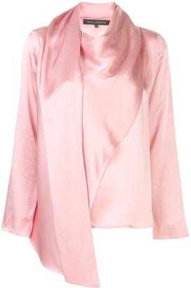 Sally LaPointe asymmetric draped blouse