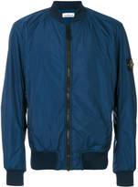 Stone Island textured bomber jacket