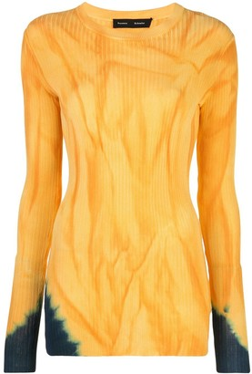 Proenza Schouler Orange And Blue Tie-dye Top