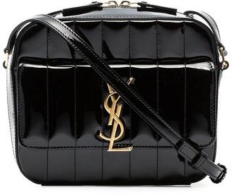 Saint Laurent black Vicky patent leather cross body bag