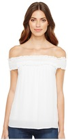 Stetson 1056 Crepe Off the Shoulder Top Women's Clothing