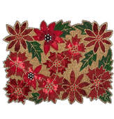 Mackenzie Childs Poinsettia Beaded Placemat