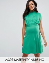 Asos Nursing High Neck Mini Dress