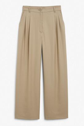 Monki Wide leg pleated trousers