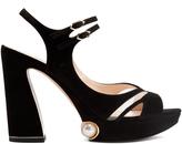 Nicholas Kirkwood Estella suede platform sandals