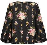 Alice + Olivia Shirley Floral-Print Cotton-Poplin Top