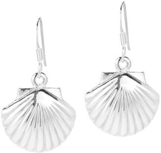 Aeravida Handmade Summer Sea Shell .925 Sterling Silver Dangle Earrings