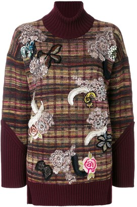 Antonio Marras Embellished Turtle Neck Jumper