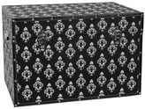 Oriental Furniture Damask Storage Trunk Black
