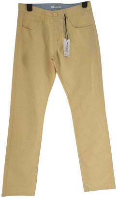 Carven Yellow Cotton Trousers