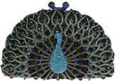 Ainemay Bonjanvye Luxury Crystal Clutches For Women Peacock Clutch Evening Bag