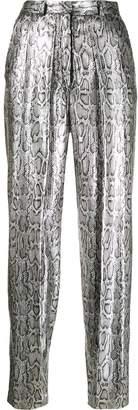 Christopher Kane silver sequin snake print pants