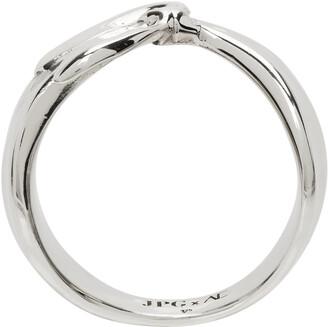 Jean Paul Gaultier SSENSE Exclusive Silver Alan Crocetti Edition Bandana Ring