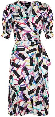 Marc Jacobs Printed satin wrap dress