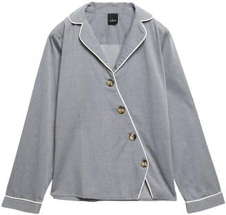 ELSE Victoria Asymmetric Cotton-blend Pajama Top