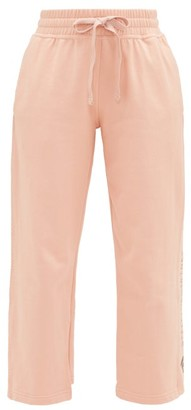 adidas by Stella McCartney Cropped Cotton-jersey Track Pants - Womens - Light Pink