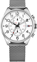 Tommy Hilfiger Men's Chronograph Casual Sport Stainless Steel Mesh Bracelet Watch 46mm 1791277