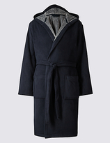 M&S Collection Hooded Fleece Dressing Gown with Belt